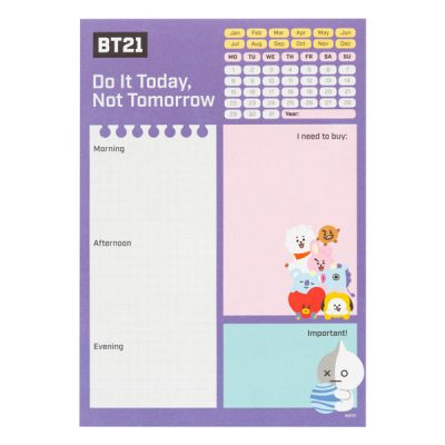 BT21 Bloc de notas de escritorio BT21 | Double Project