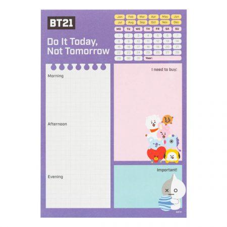 BT21 Bloc de notas de escritorio BT21 | Double Project