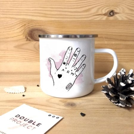 Taza vintage metálica Kook's Hand | Double Project