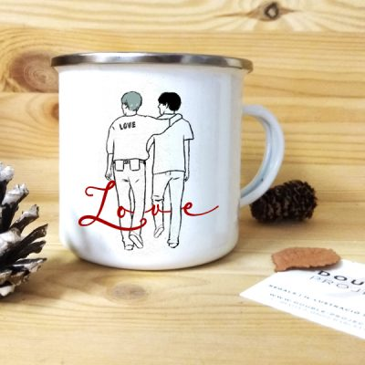 Taza vintage metálica Love | Double Project