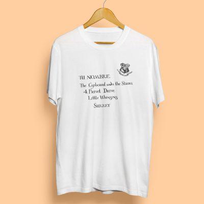 Camiseta Carta Hogwarts [Solo a la venta durante la campaña del cumple de Harry] | Double Project