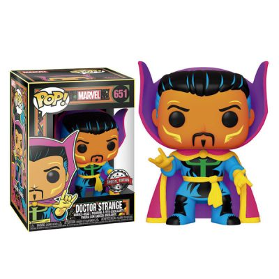 Marvel Funko POP Black Light Dr. Strange | Double Project