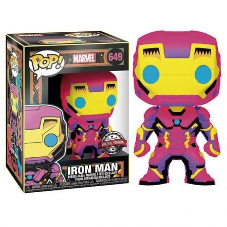 Marvel Funko POP Black Light Iron Man | Double Project