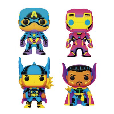 Marvel Funko POP Black Light Pack | Double Project