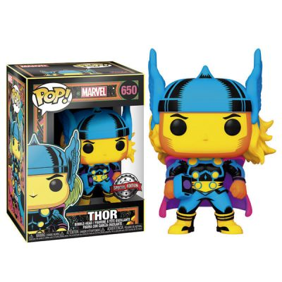 Marvel Funko POP Black Light Thor | Double Project