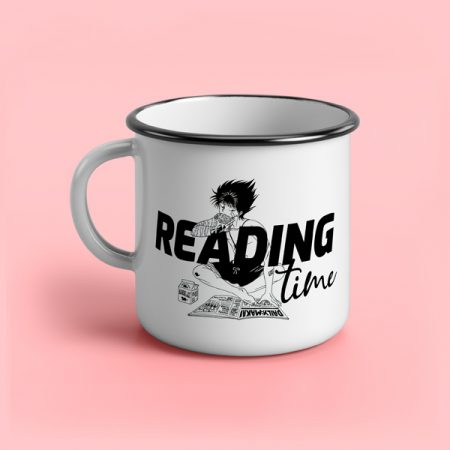 taza vintage cerámica Reading time   Double Project