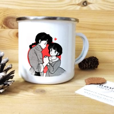 Taza vintage metálica Ranma & Akane | Double Project