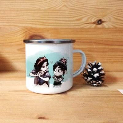 Taza vintage metálica Blancanieves y Vanellope | Double Project