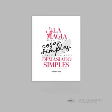 Lámina La magia hacia las cosas simples