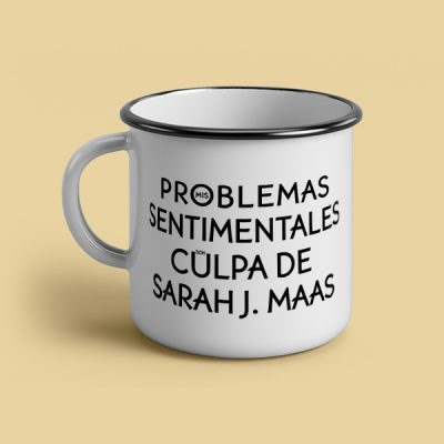 Taza vintage cerámica Mis problemas sentimentales