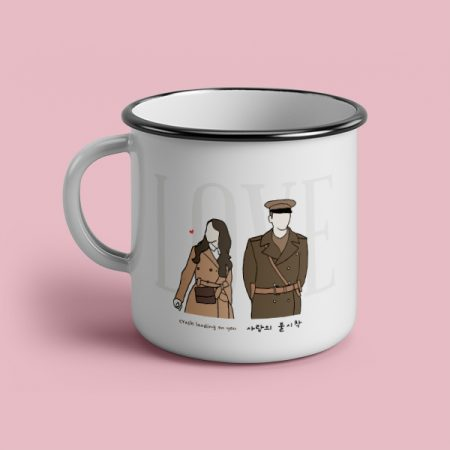 Taza vintage cerámica Crash Landing on you