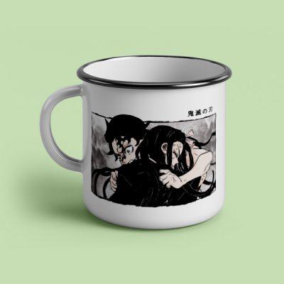 taza vintage cerámica Demon Slayer