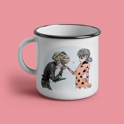 Taza vintage cerámica Kiss