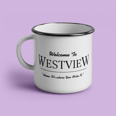 Taza vintage cerámica Welcome to Westview