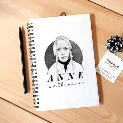Libreta Anne Black and White