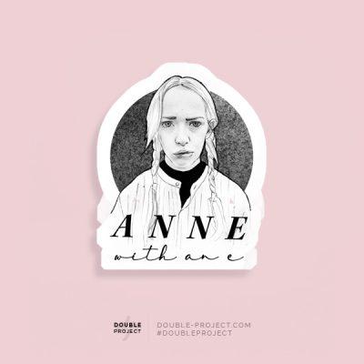 Pegatina Anne Black & White