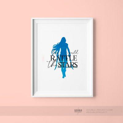 Lámina Ratlle the stars