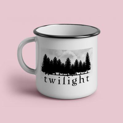 Taza vintage cerámica Twilight