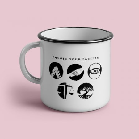 Taza vintage cerámica Choose your faction