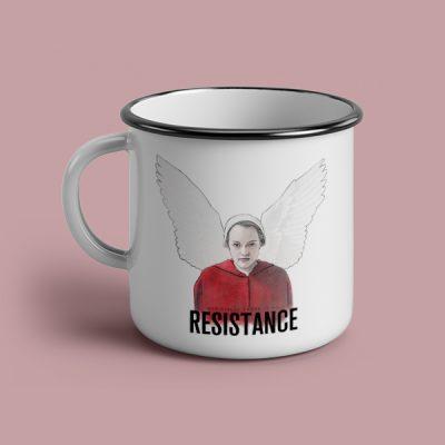 Taza vintage cerámica Resistance