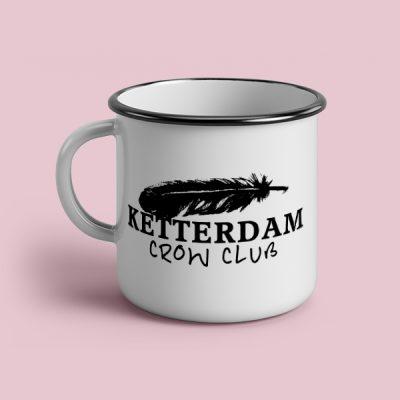 Taza vintage cerámica Ketterdam Crow club