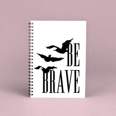 Libreta espiral Be brave