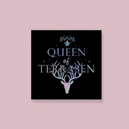 Pegatina holográfica Queen of terrasen