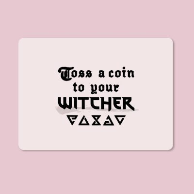 Alfombrilla ratón Toss a coin your witcher
