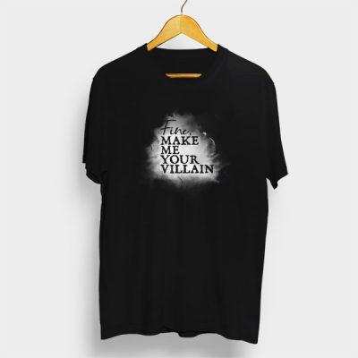 Camiseta Algodón Fine, make me your villain
