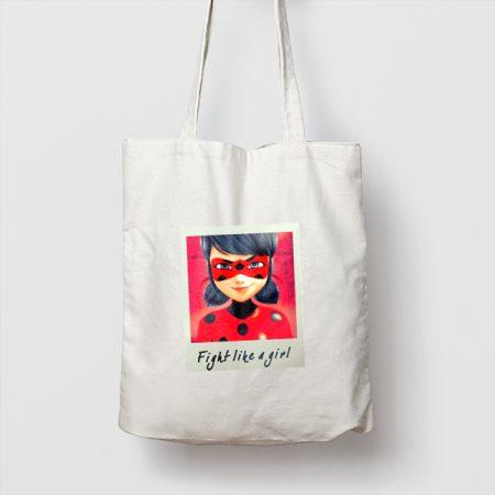 Tote bag de Algodón Fight light a girl