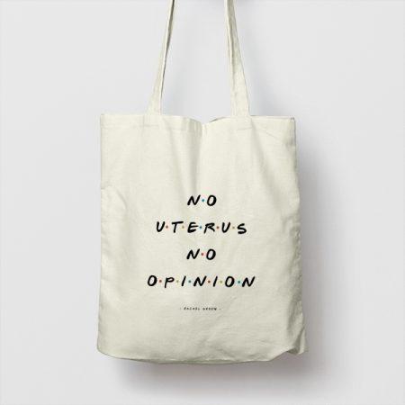 Tote bag de Algodón No Uterus, no opinion