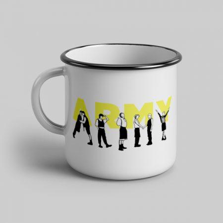 Taza vintage cerámica Army