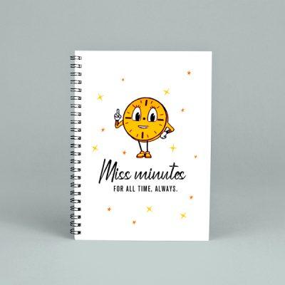 Libreta espiral Miss Minutes