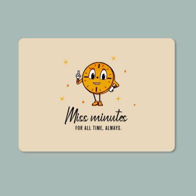 Alfombrilla ratón Miss Minutes