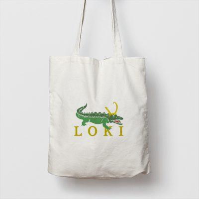 Tote bag de Algodón Alligator Loki