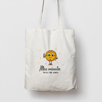 Tote bag de Algodón Miss Minutes