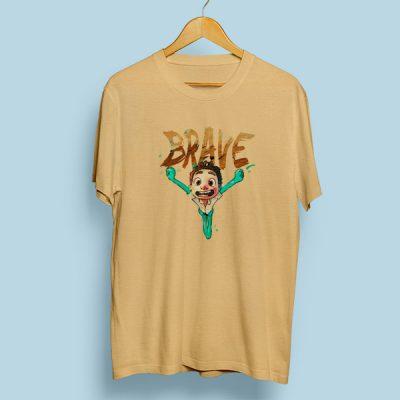 Camiseta algodón Brave