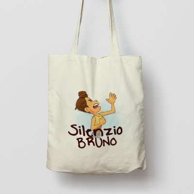 Tote bag de Algodón Silenzio Bruno