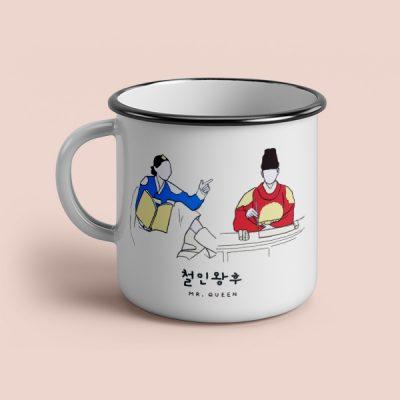 Taza vintage cerámica Mr Queen