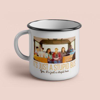 taza vintage cerámica Stupid bus