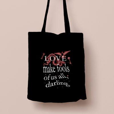 Tote bag de Algodón Love make fools