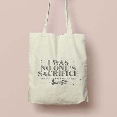 Tote bag de Algodón I Was no one's sacrifice